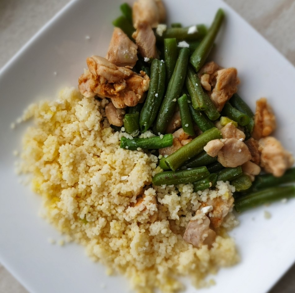 Couscous met kip en groenten