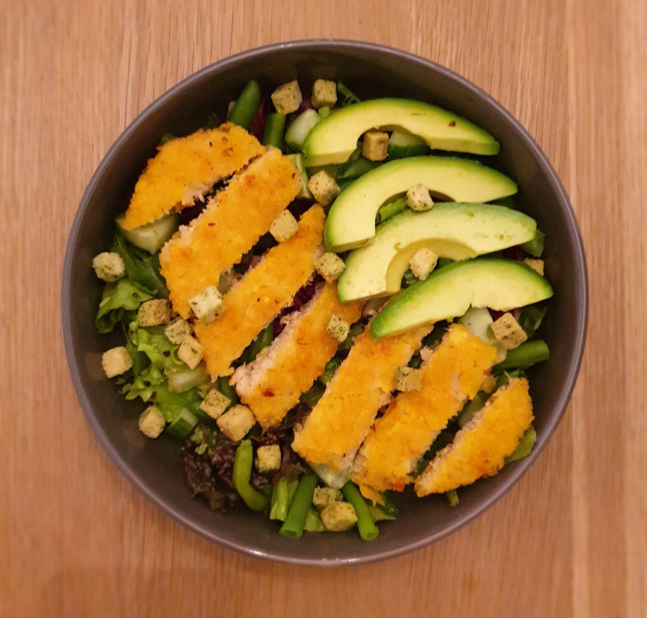 Kipsalade met groenten